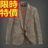西裝外套-保暖修身單扣羊毛男毛呢外套2色63af28【巴黎精品】