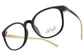 ZD-LOOK 12星座 濾藍光 光學眼鏡 HD-KS198 C5 (黑-象牙) 韓國製 百搭質感圓框款