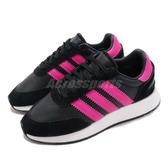 【四折特賣】adidas 休閒鞋 I-5923 W 黑 桃紅 BOOST 麂皮 女鞋 慢跑鞋 運動鞋【PUMP306】 G54518