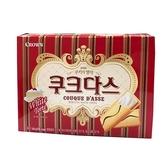 韓國 CROWN 歐風薄燒夾心餅-奶酪口味(144g)【小三美日】