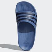ADIDAS DURAMO SLIDE 女鞋 大童 拖鞋 輕量 防水 一體成型 藍 黑【運動世界】CP9383