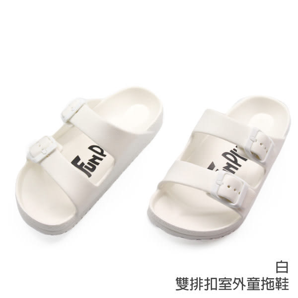 【333家居鞋館】兒童款★雙排扣室外童拖鞋-紅色