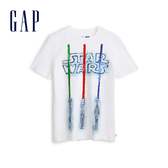 Gap男童Gap x Star Wars星際大戰系列棉質舒適圓領短袖T恤539434-白顏色