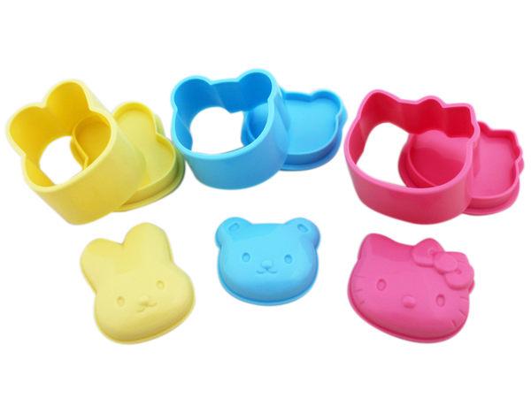 【卡漫城】 Hello Kitty 食材 模型 3入組 ㊣版 日本製 模具 壓模器 模形 米飯 飯糰 白飯 小熊 造型