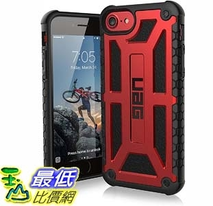[9美國直購] 紅色 保護殼 UAG iPhone 8 / iPhone 7 / iPhone 6s [4.7-inch screen] Monarch Feather-Light Rugged [GRAPHITE]