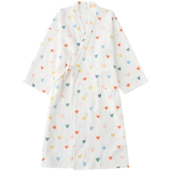 ins風紗布和服純棉女春秋薄款日系卡通夏季日式睡袍睡裙浴袍睡衣
