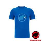 【MAMMUT 長毛象】Mammut Logo 男短袖LOGO圓領T恤『黯青』1041-07290 吸濕排汗快乾 排汗衫