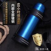 車載旅行水壺2L升大容量家用保溫壺暖熱水瓶戶外運動便攜  全網最低價