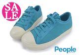 People THE PHILLIPS 男童休閒鞋 中童 鬆緊帶 軟底舒適 透氣 輕量運動鞋J9462#藍色◆OSOME奧森童鞋
