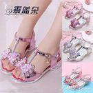 女童涼鞋新款韓版夏季時尚公主鞋中大童小女孩高跟鞋軟底 范思蓮恩