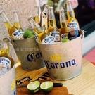 小冰桶迷你 小型裝冰塊冰沙的容器號桶家用鐵皮桶科羅娜啤酒冰 夢幻小鎮「快速出貨」