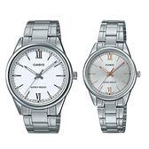 CASIO 手錶專賣店 MTP-V005D-7B2 + LTP-V005D-7B2 簡約指針對錶 日常生活防水 不鏽鋼錶帶 三摺錶扣