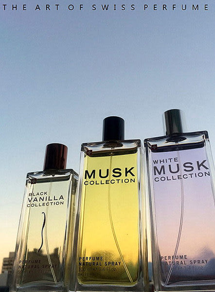 Musk Collection Black Vanilla 瑞士香草蘭花淡香水 50ml 搭贈原廠紙袋