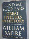 【書寶二手書T9/歷史_WFZ】Lend me your ears : great speeches in histor