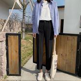西裝褲 墜感直筒褲女春款韓版寬鬆學生九分工裝褲休閒西裝褲 唯伊時尚