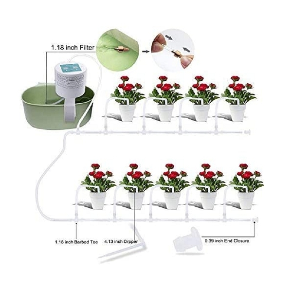 [9美國直購] Elitlife 自動澆水系統 Self Watering System 15-Day Watering Time&Watering Interval Time Setting