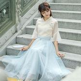 夏裝改良漢服套裝女學生公主雪紡復古中國風