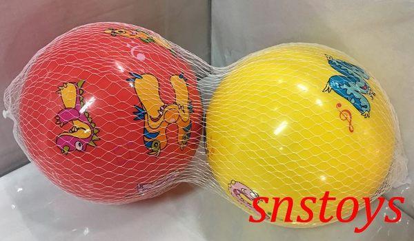 sns 古早味 懷舊童玩 塑膠球 彩色球(1組2粒)16x16cm顏色隨機出貨