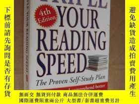 二手書博民逛書店Triple罕見Your Reading Speed:The p