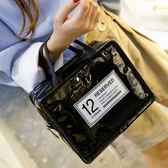 化妝包 旅行化妆品收纳包PU防水洗漱包韩可爱女士化妆包大容量便携手提包 歐歐流行館
