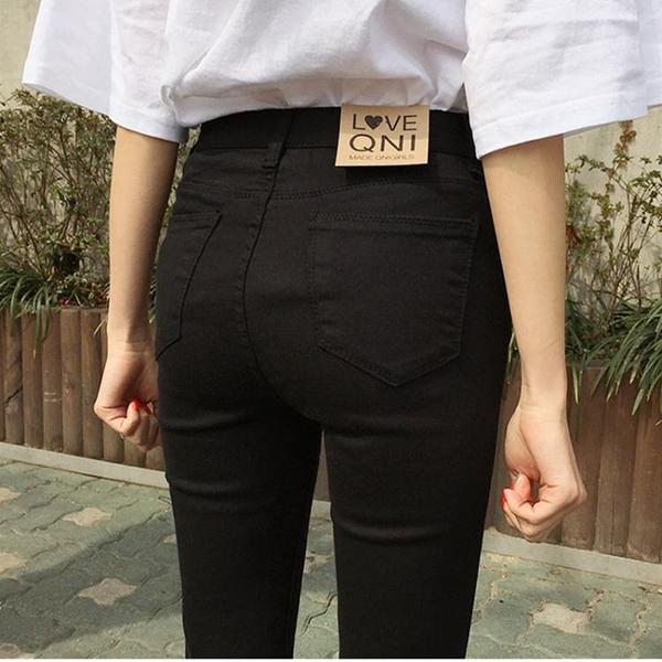 窄管褲 純黑色牛仔褲女九分褲2020秋季新款韓版顯瘦高腰緊身小腳鉛筆長褲 奇妙商鋪