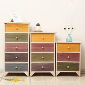 全實木 免安裝彩色多功能床頭櫃 臥室鬥櫃 經濟型原木色收納櫃窄