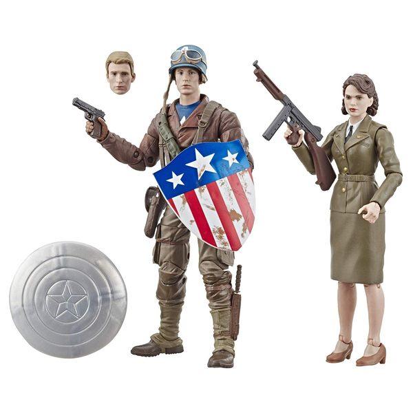 《 MARVEL 》漫威傳奇80周年-電影版美國隊長 史蒂芬·羅傑斯&佩姬·卡特╭★ JOYBUS玩具百貨