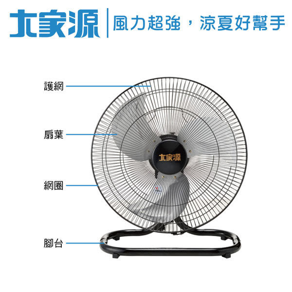 【艾來家電】【分期0利率+免運】大家源 18吋工業座扇 TCY-8718