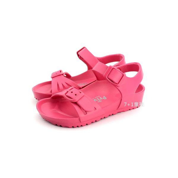 中小童 台灣製 專櫃普萊米  輕量防水休閒涼鞋《7+1童鞋》D129 桃色