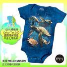 【摩達客】(預購)美國進口The Mountain 海龜家族 精梳純棉嬰幼兒短袖包屁衣