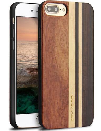 【美國代購】iPhone 7 plus 獨特原木木紋 手工雕花 保護殻, Retro Camera Engraving - Stylish 款式