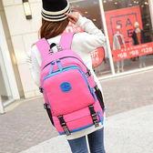 日韓新款 學院風休閒帆布旅行學生後揹包雙肩包電腦包