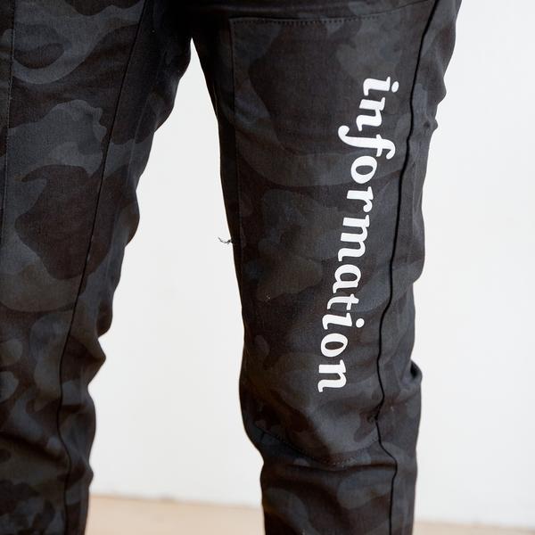 酷黑迷彩縮口褲