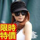 棒球帽-時尚防曬遮陽平簷女軍帽2色57j...