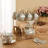 歐式陶瓷咖啡杯套裝簡約整套復古下午茶 免運快速出貨