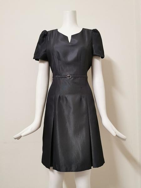 【傑門凱立GK-703D】銀灰色-OL職業女洋裝/女套裝/連身裙/夏季女洋裝/上班族辦公室櫃台時尚氣質