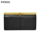 FOSSIL KAYLA 黑色馬蹄型扣式手拿包 SL7825001