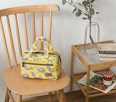 保溫袋 可愛飯盒袋子方形便當包拉鍊午餐包加厚鋁箔手提拎包保溫袋媽咪包 夢蕓家