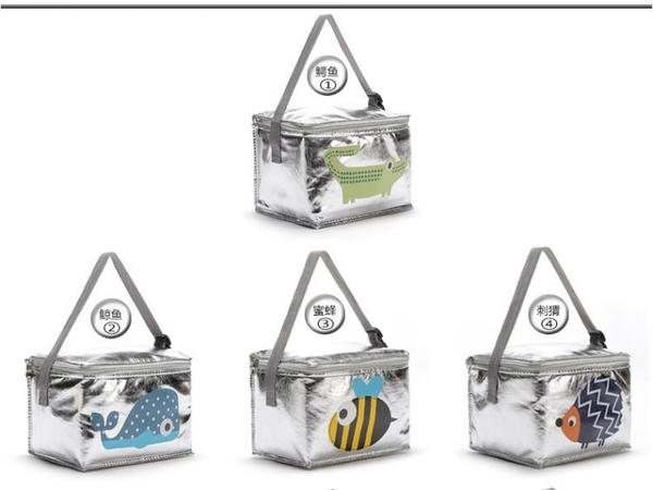 【快樂購】保溫袋學生卡通飯包冷飲收納袋鋁箔飯盒包加厚