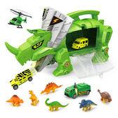 恐龍 Amuzinc酷比樂 兒童玩具 恐龍世界 恐龍收納車 內附6種恐龍與4台小車 9917