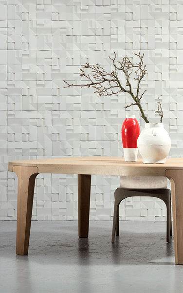 NLXL 3D  白色幾何形  HOUSE CERAMICS WALLPAPER BY STUDIO RODERICK VOS VOS-02
