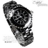 BIBA 碧寶錶 黑陶瓷錶 黑面 藍寶石水晶 35mm 女錶 時間玩家 B32BC005B