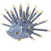 捷克製KOH-I-NOR 24色油性色鉛筆(手工製造刺蝟型24支組)*藍色紋身