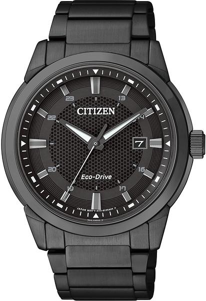 CITIZEN Eco-Drive 經典都會光動能時尚腕錶-黑/42mm BM7145-51E