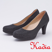 kadia.晚宴婚嫁首選 排列水鑽高跟鞋(9538-95黑色)
