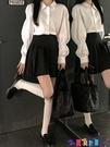 泡泡袖上衣 白色法式泡泡袖襯衫女2021年春季韓版內搭設計感小眾襯衣打底上衣寶貝計畫 上新