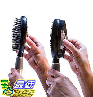 [8美國直購] Qwik Clean Self Cleaning Hair Brush - Easy Clean Retractable Bristles - Patented Detangler