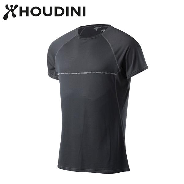 瑞典【Houdini】M`s Fast Track Message 男短袖圓領機能排汗 岩石黑 255504