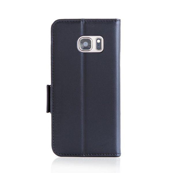 X-SHELL Samsung S7 防電磁波真皮手機皮套 (旗艦黑)