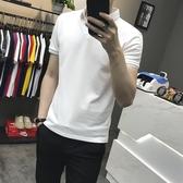 夏季潮流韓版襯衫領短袖POLO衫2019新款有帶領短袖T恤男翻領衣服